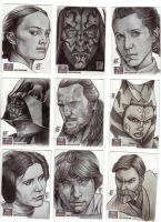 Star Wars Galaxy 7 Artist Sketch Cards - 5 by prmedia