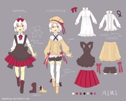 Airi character sheet by kumashige
