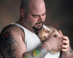 JohnnyP with puppy 1 by khavi