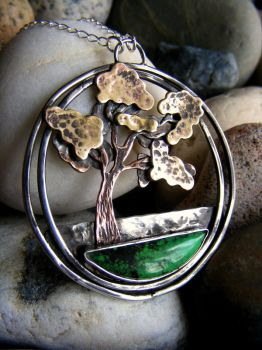 Tree Rooted in Turquoise by MoonLitCreations