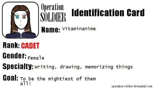 SOLDIER ID card by vitaminanime