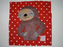 Sloth Quilt Square by kiddomerriweather