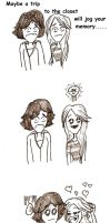 the closet....Lilly and Oliver by ZutaraGirlXD