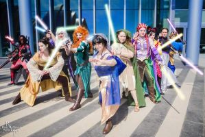 Disney Princess Jedis by TheMuteSiryn