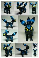 Sculpey Umbreon (Shiny) by ChloeMcGhoe