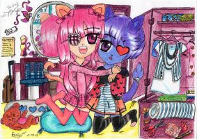 CONTEST ENTRY:Kitty and Desiree by cutekawaii96