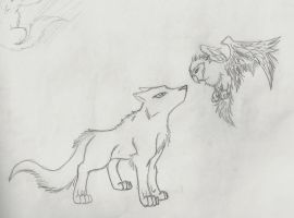 The Wolf and the Owl by HiddenWolfSoulKimi