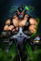 Batman vs Bane Colors _03 by MARCIOABREU7