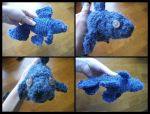 Hairy Blue Goldfish by MadeWithLove8