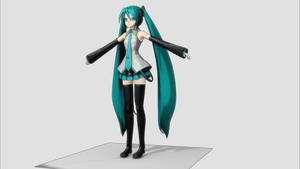 Miku Hatsune 3D Blender 01 by Hastemir