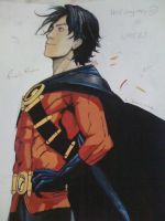 Tim Drake by poster colours by NoeyIsis