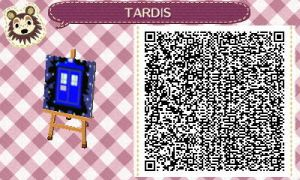 TARDIS - Animal Crossing QR Code by KaizokuShojo