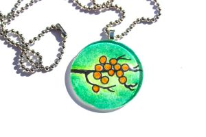 Hand drawn Magical Light Tree Pendant by PinkChocolate14