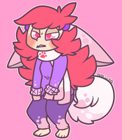 Angry Fluff Pup by pupom