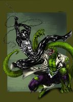 Spidey VS Lizard - Dartbaston by SpiderGuile