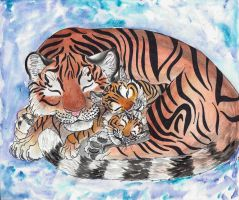 Tiger Mother by Eviecats