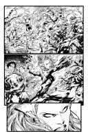 Aquaman page 3 inks by Fendiin