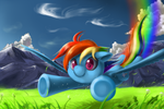 Rainbow Dash used Aerial Ace by Jiayi