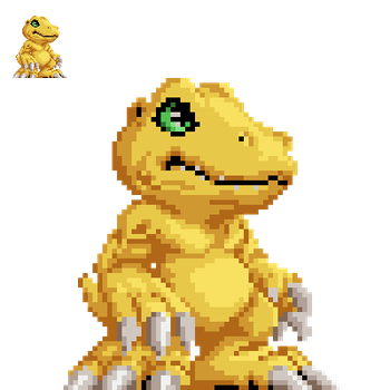 Agumon Test Sprite by runde