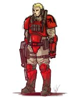 Blood Angels Scout by RedSkittlez-DA