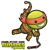 Michelangelo - Kawaii Mutant Ninja Turtles by SquidPig