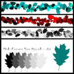 Free Oak Leaves PS Brushes by Raetia