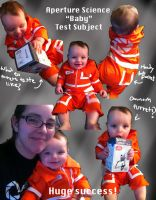 Aperture Science Baby Test Subject Cosplay by Kitten-sama
