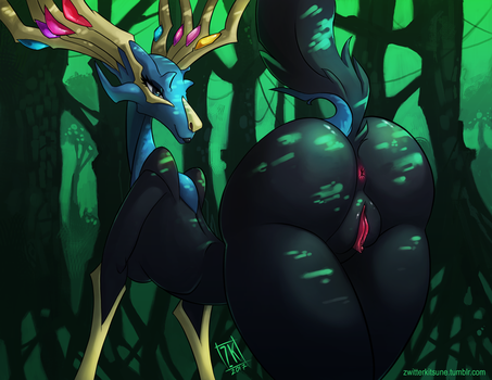 X is for Xerneas by ZwitterKitsune