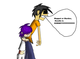 GUYS NOODLE IS HORNEY by FoxTail8000