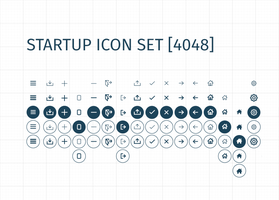 Startup Icon Set (OVER 4000 ICONS!) by Dobrotek
