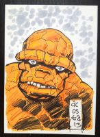 Thing sketch card by Dave-Acosta