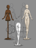 Fashion Mannequin Base (P2U) by Nahemii-san