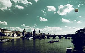 Karlov Bridge.Summer memories. by Bunnis