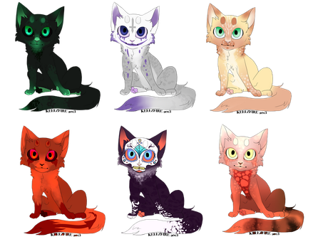 Halloween Cat Adopts! (and one normal cat adopt) by Garruuk