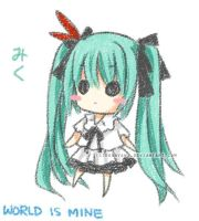 Doodle : Miku world is mine by sonnyaws