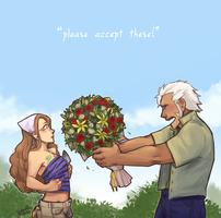 FT: ElfGreen - Flowers by Yaushie
