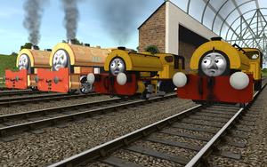Railway Series meets Television Series: SCC Twins by Sergeant-Sunflower