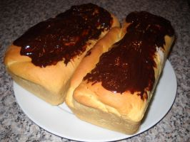 Hazelnut and Chocolate Brioche by Bisected8