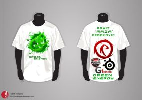 Green Energy T-Shirt by Ramche