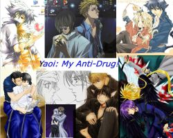 """Yaoi: My Anti-Drug"" Desktop by TempestAlchemist"