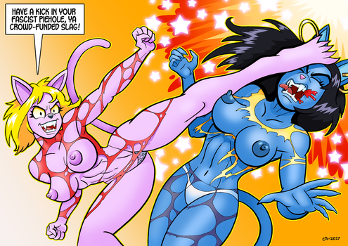 Totally Sexist Catfight by curtsibling
