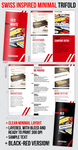 Swiss Minimal Style Professional Trifold Brochure by theminimalnet