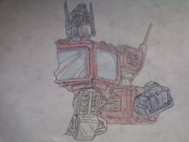 Optimus Prime 2nd W.I.P. by galis33