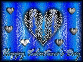 valentines day wax heart blue by Unshakble