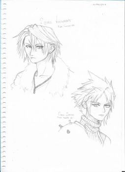Squall and Cloud by cyberhybriddemon