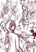 KH doodle page by Violet-Eyed-Angel