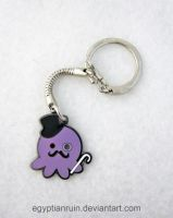 Metal Gentleman Octopus Keychain by egyptianruin