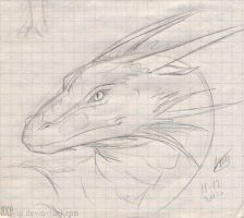 dragon head sketch by axe-ql
