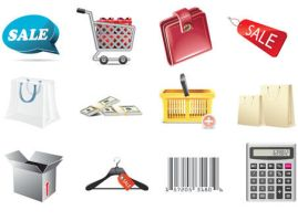 Shopping Icons by FreeIconsFinder