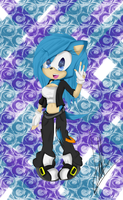 Me as a sonic character X3 by SkyletAlexisJay